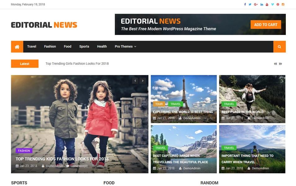 150+ Free Responsive Magazine WordPress Themes 2019 » CSS Author