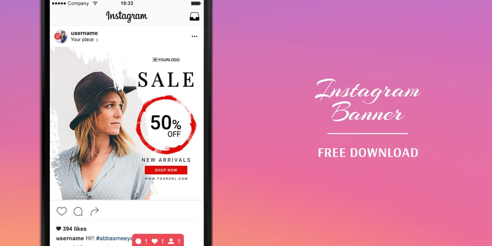 Free Instagram Banners Templates PSD