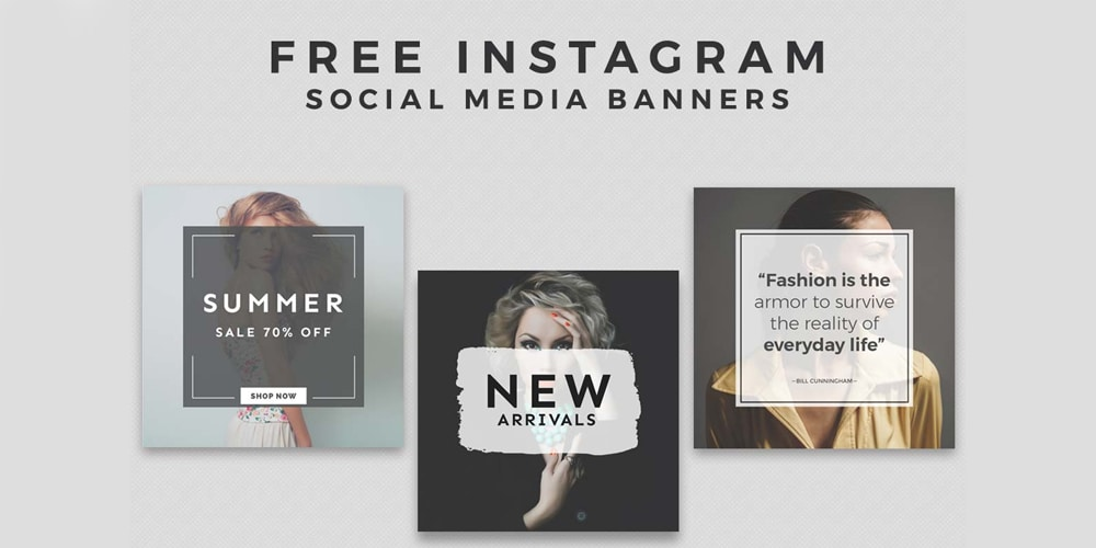Free Instagram Social Media Banner Templates PSD