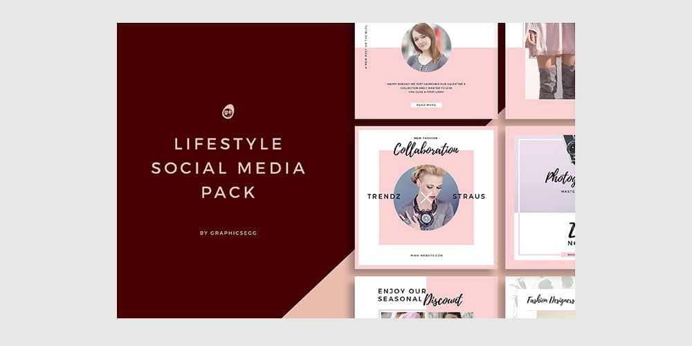 Lifestyle Social Media Instagram Templates PSD