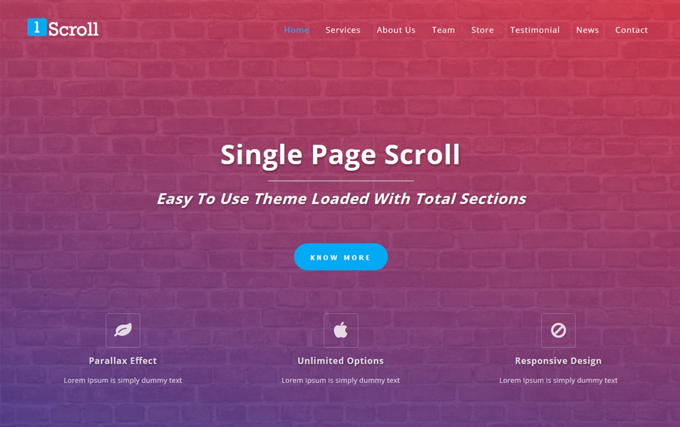 Single Page Scroll