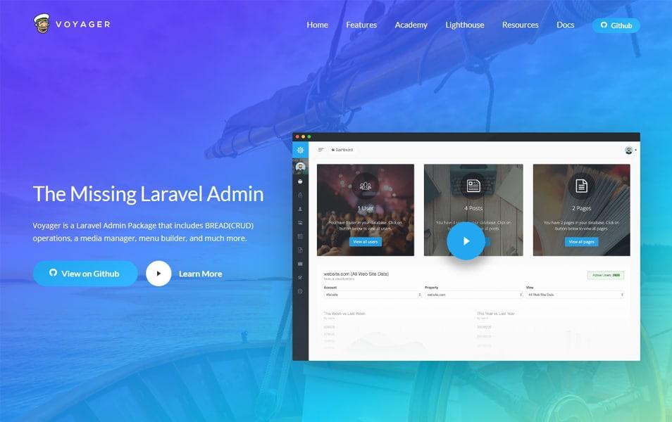20+ Best Laravel Admin Panel Generators » CSS Author