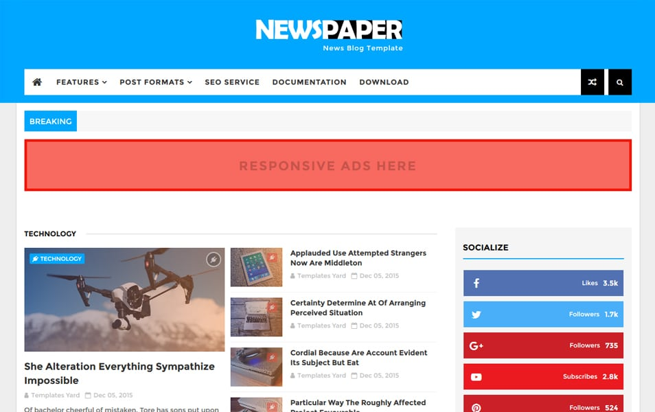 300+ Best Free Responsive Blogger Templates 2018 » CSS Author