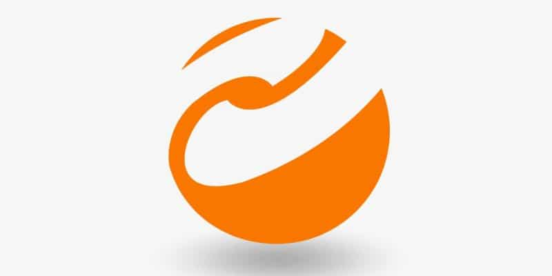 Orange Abstract Logo Design