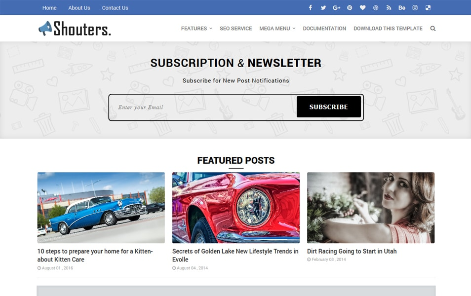 Shouters Responsive Blogger Template