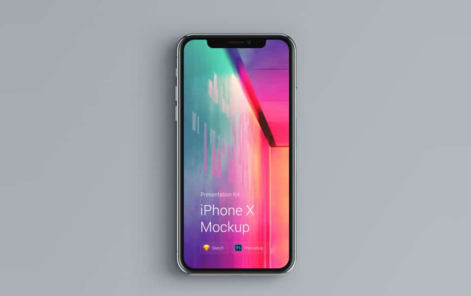 iPhone X Mockup Changeable Color