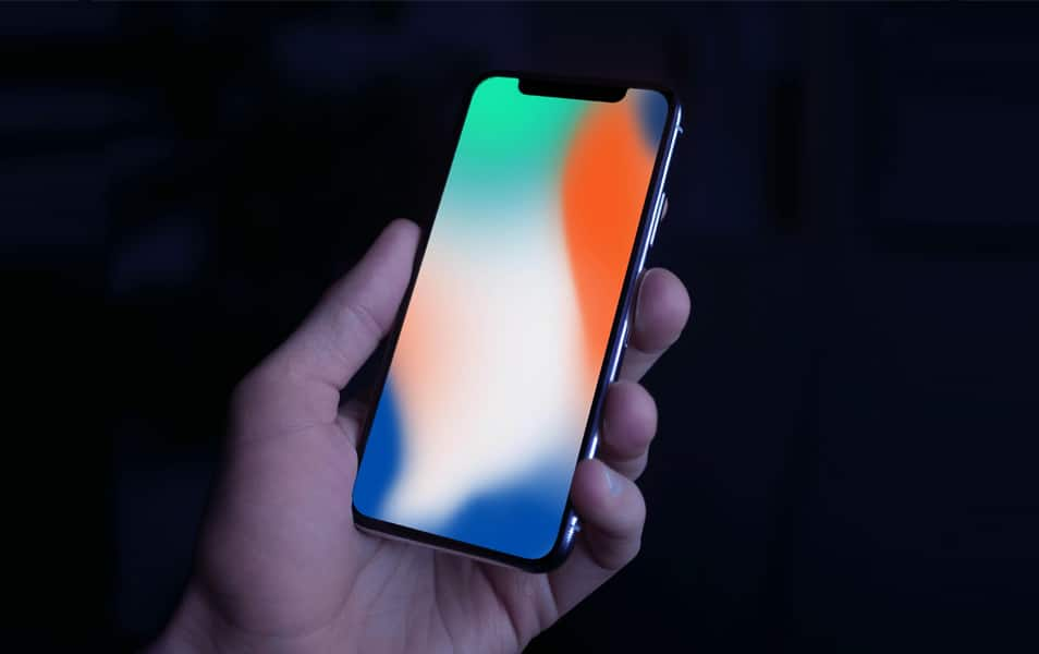 iPhone X On Hand Mockup