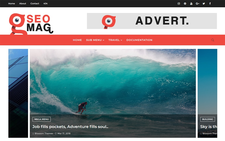 SEO MAG Responsive Blogger Template