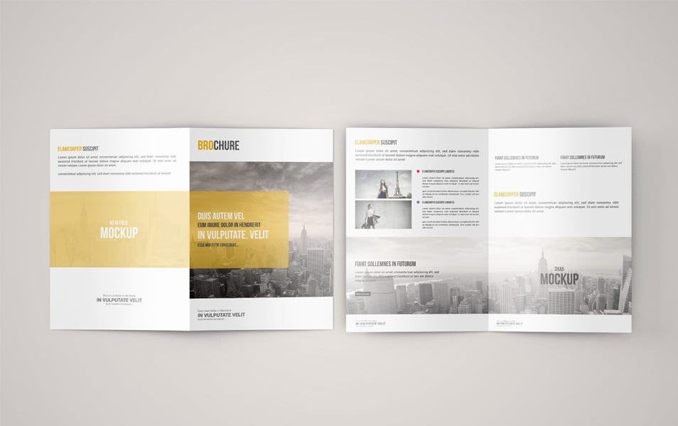 A5 Bi-Fold Brochure Mock-Up