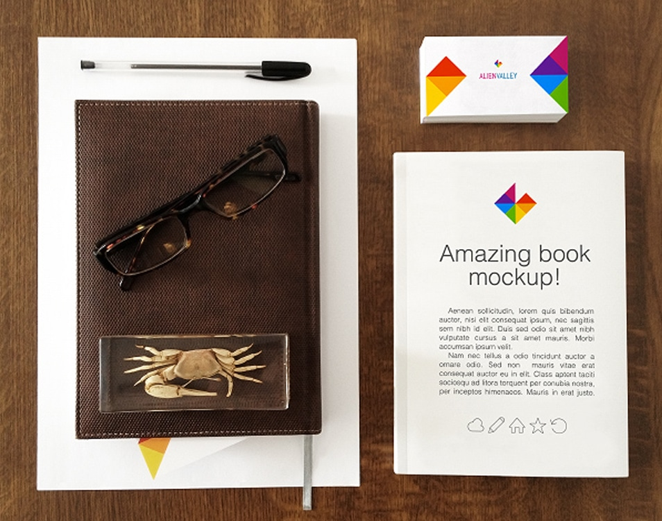 Book And Business Card