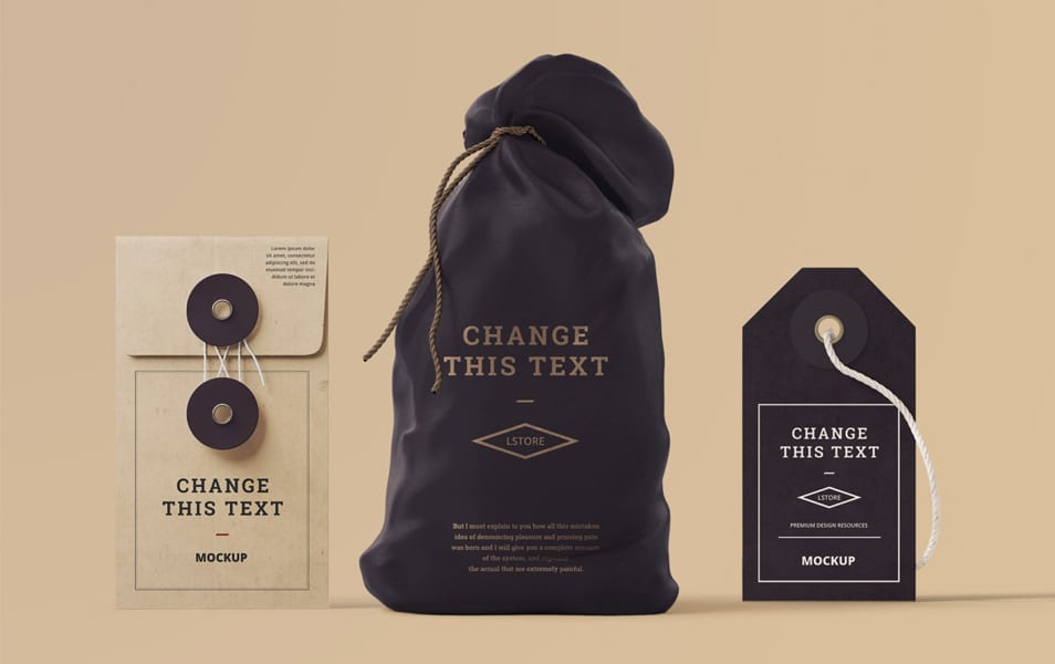 Box, Tag & Bag Mockups