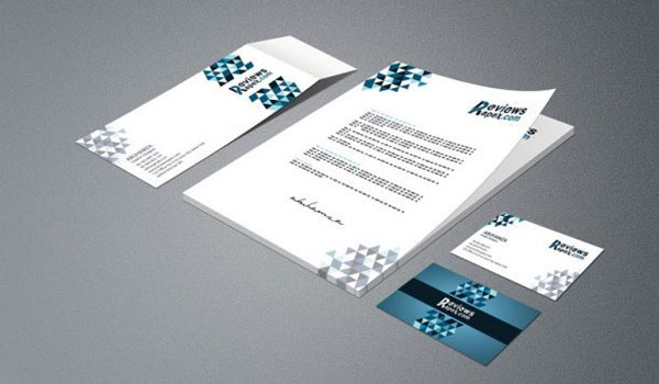 Business Card Letterhead Envelope Template Mockup