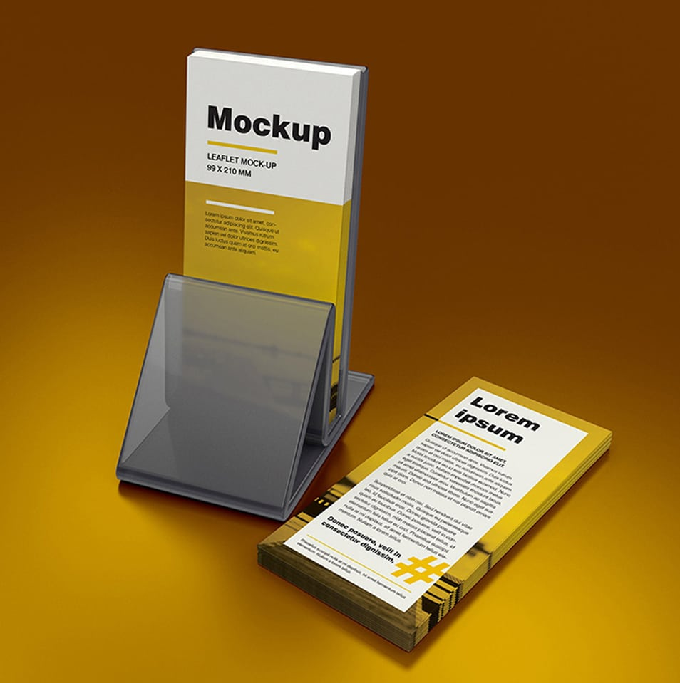 DL Leaflet Holder Mockup