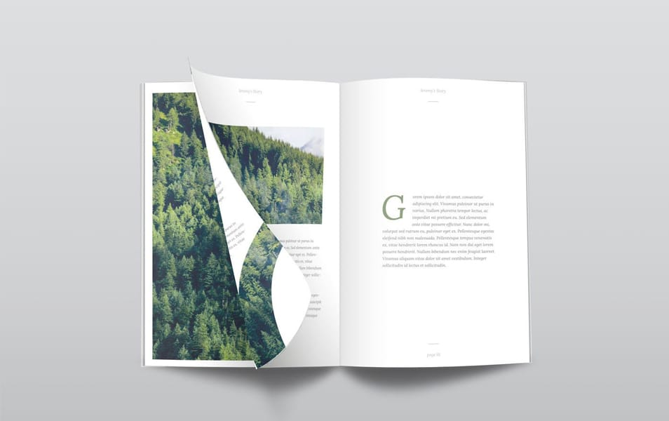 Free PSD Magazine Mockup Top View