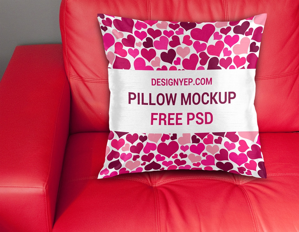 Free Pillow Cover Mockup PSD