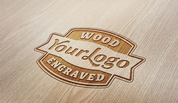 Wood Engraved Logo Mockup 187 Css Author