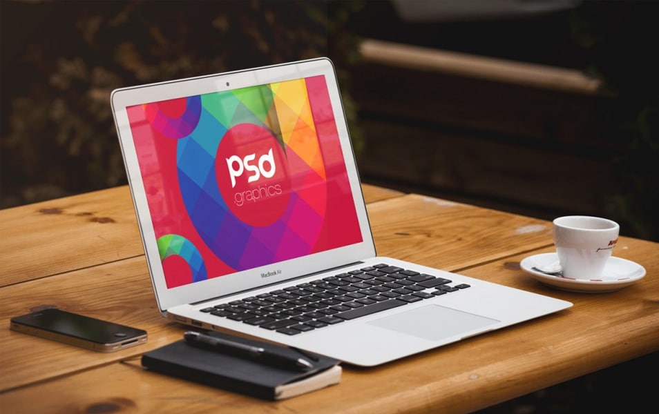 Macbook Air Mockup Free PSD