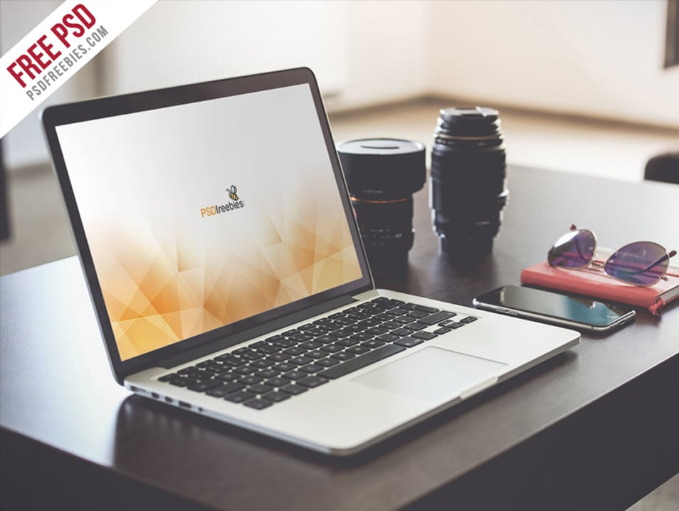 Macbook Pro Display Mockup Free PSD