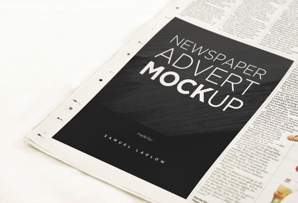 Newspaper Advert Mockup