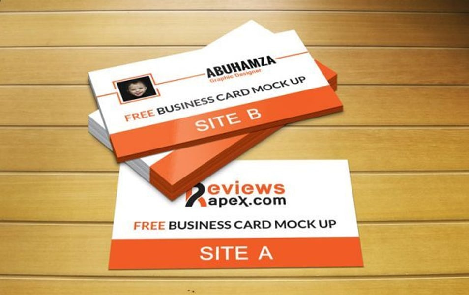 Photorealistic Business Card Mockup Template