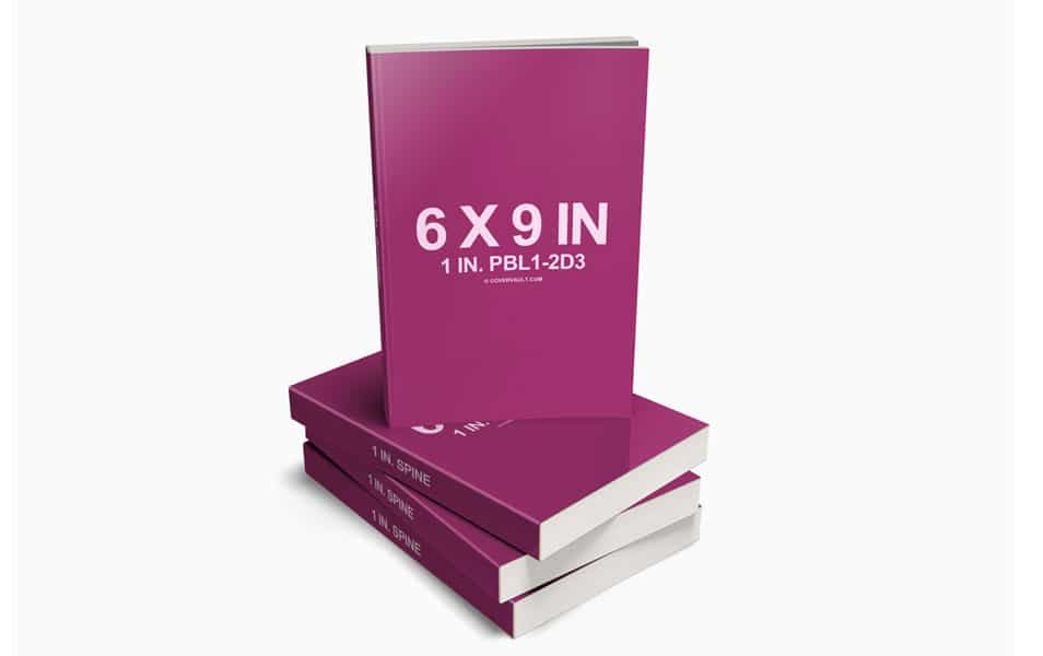 6 x 9 Stacked Paperback Book PSD Mockup