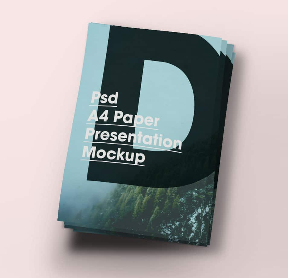A4 Paper Brochure/Flyer Mock-Up PSD