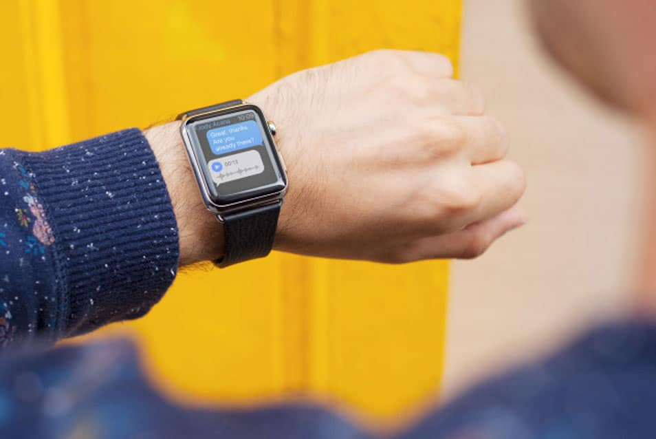 Apple Watch on Yellow
