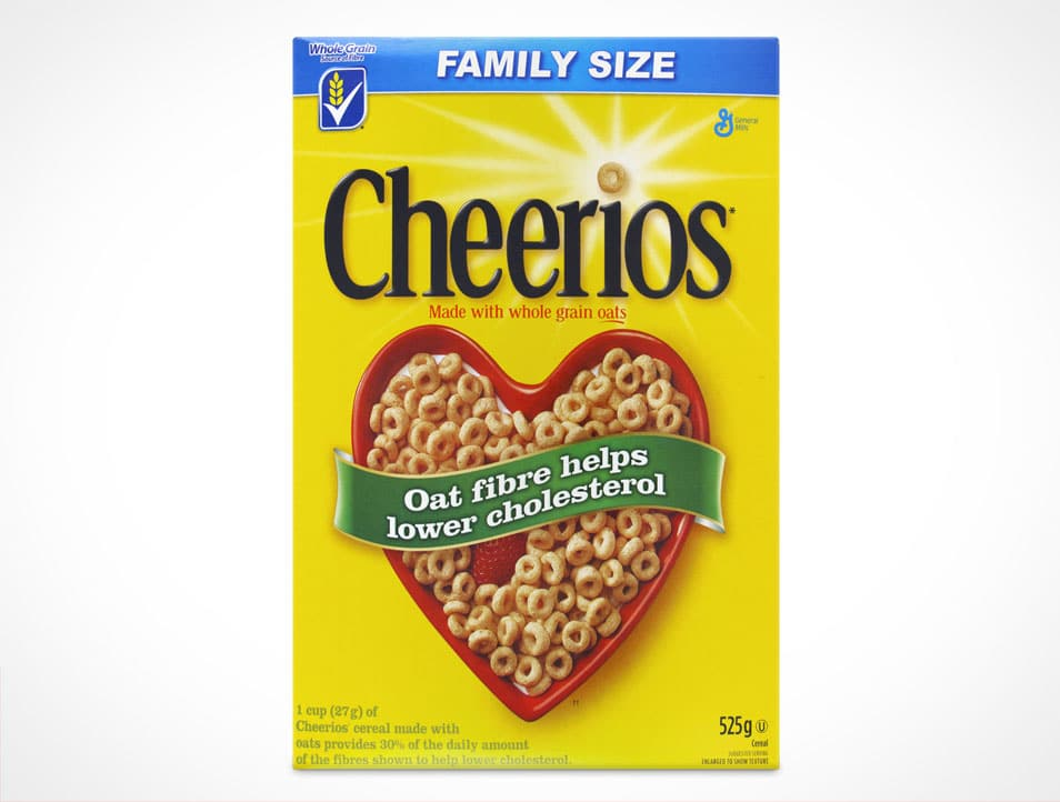 Cereal Box Front View Mockup