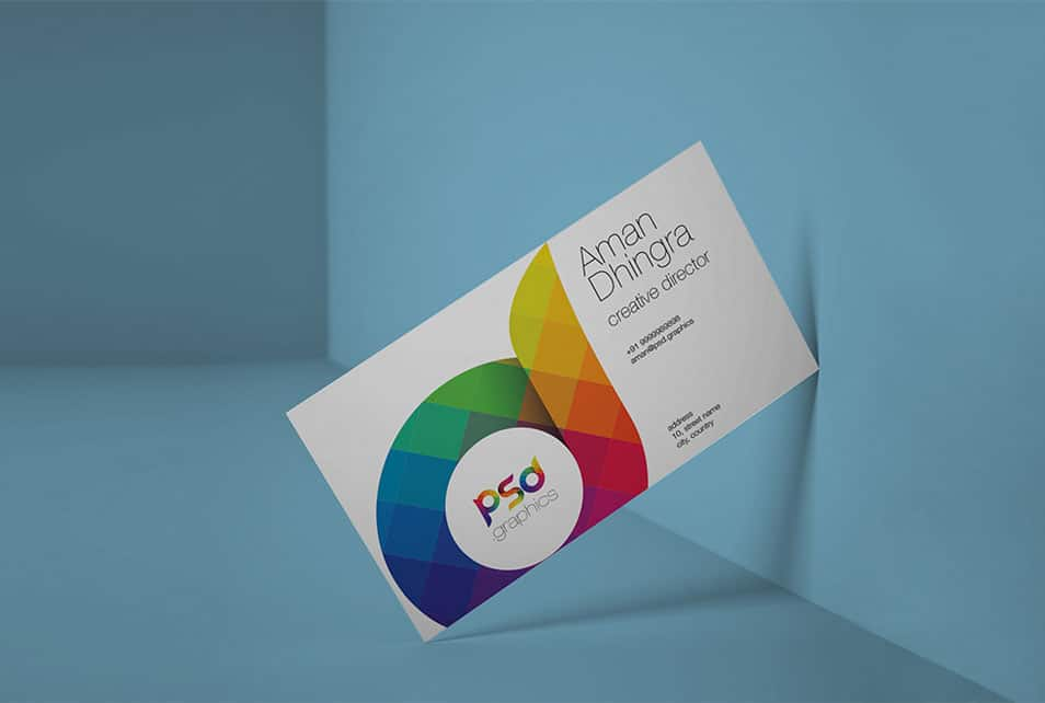 Clean Business Card Mockup Free PSD