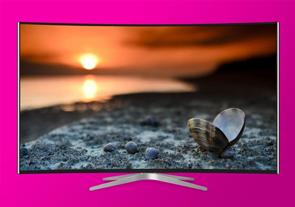 Curved TV Mockup PSD