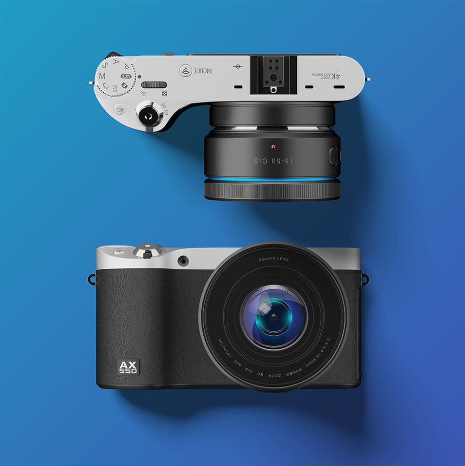 Digital Camera Free PSD Mockup
