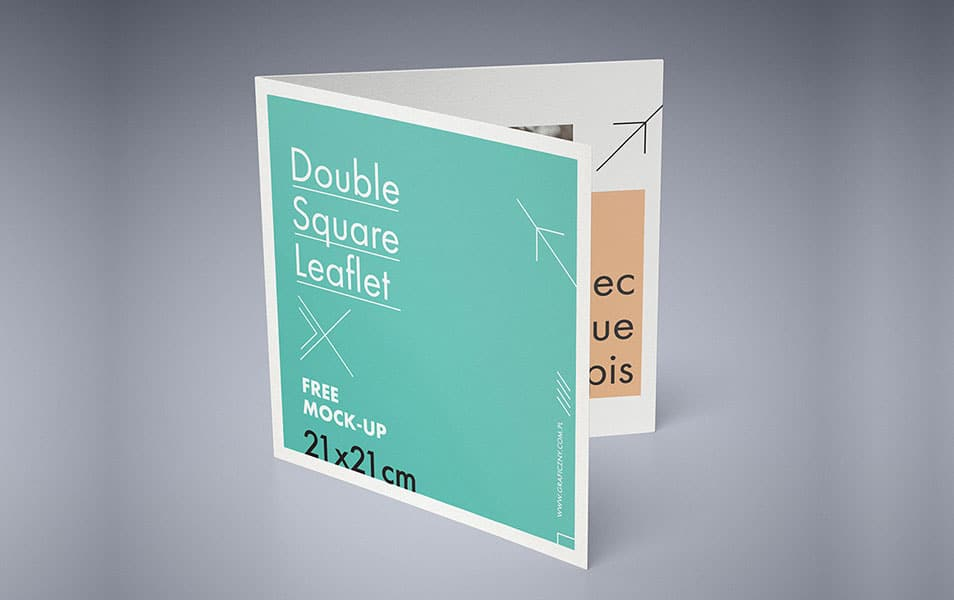Double Square Leaflet Mockup » CSS Author