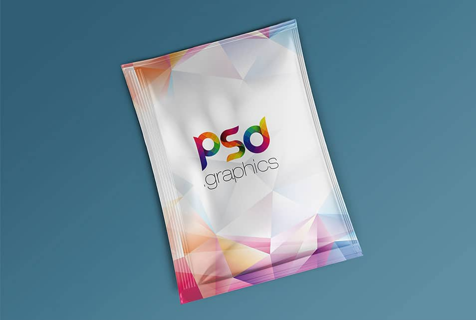 Foil Sachet Packaging Mockup Free PSD