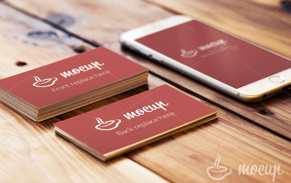 Free Business Card  & iPhone 6 Mockup