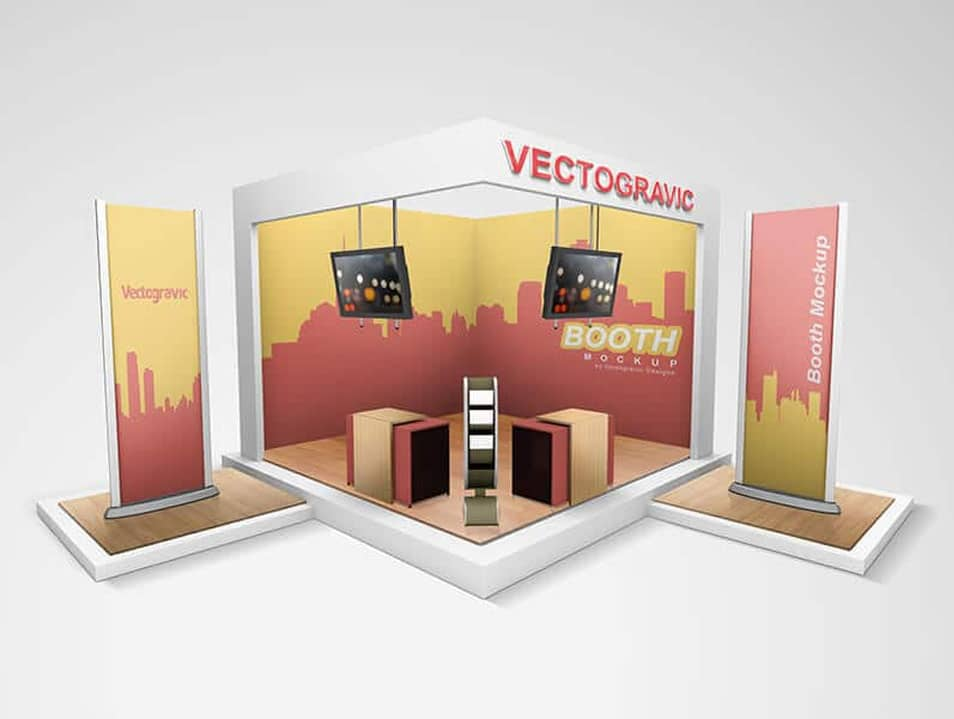 Free Display Booth Mockup