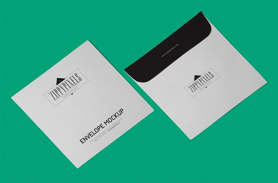 Free Envelope Mockup PSD In Isometric View