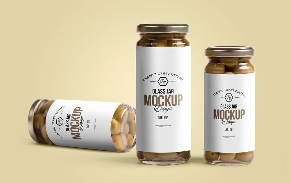 Free Glass Jar Mockup