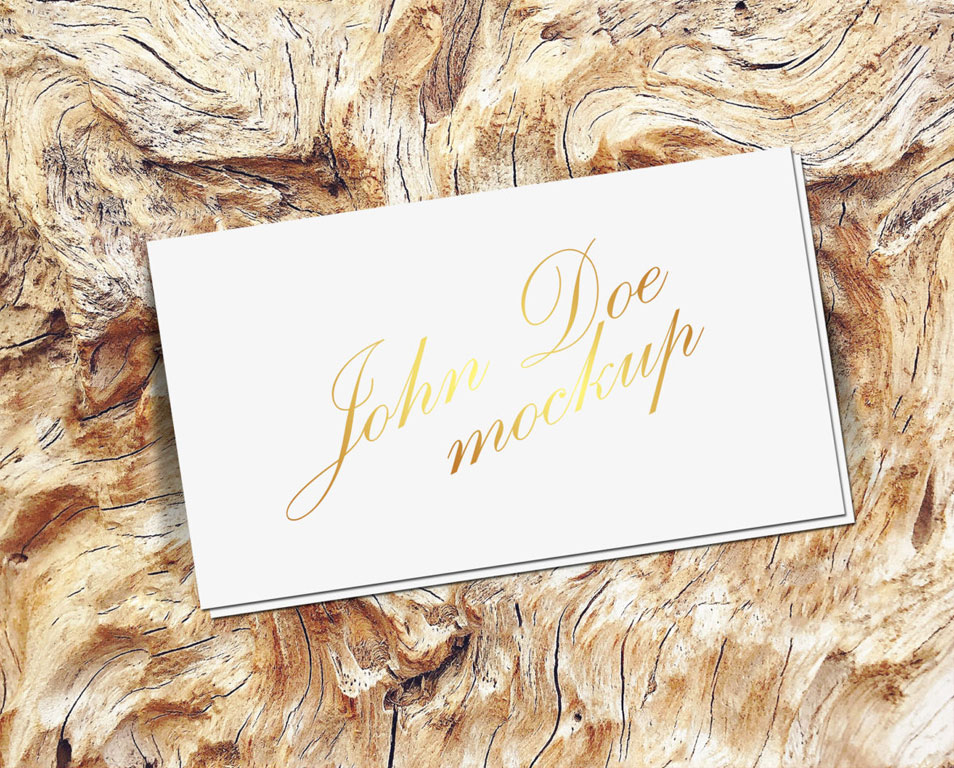 Free Gold Foil Business Card Mockup PSD