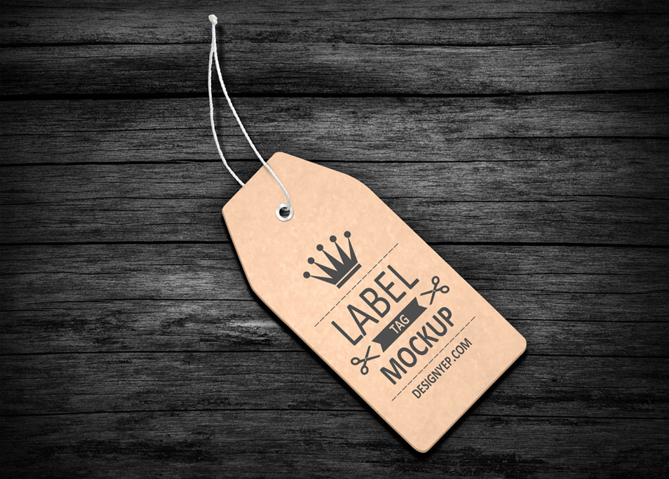Free Label Tag Mockup PSD