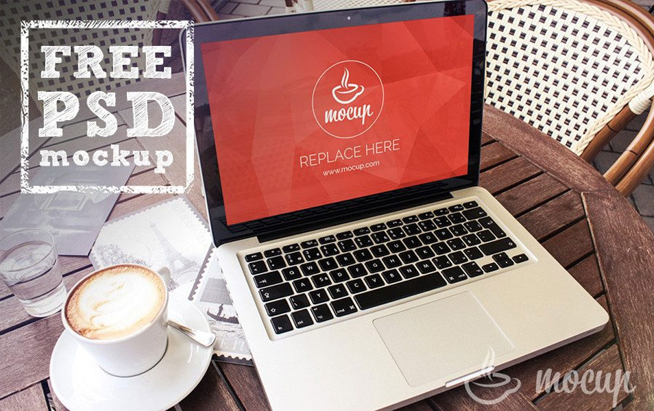 Free Macbook Mockup Terrace