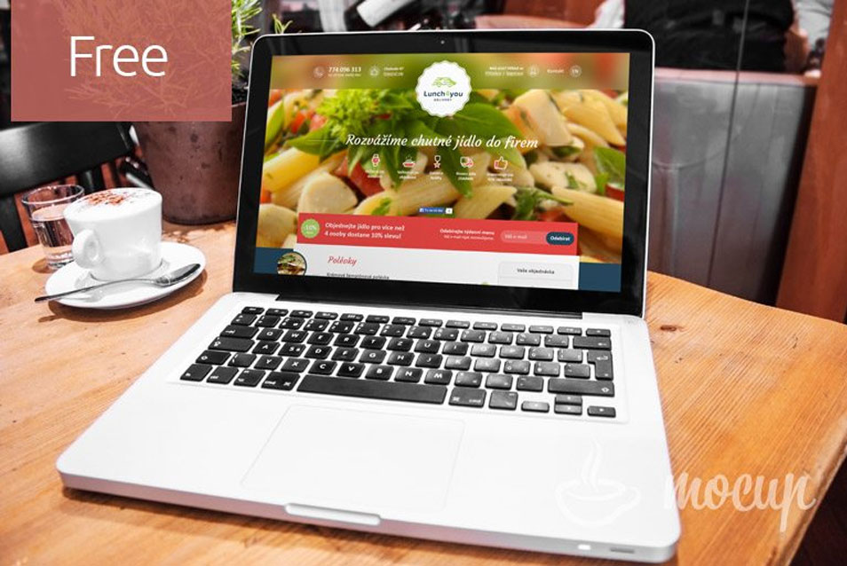 Free Macbook Pro Mockup Restaurant