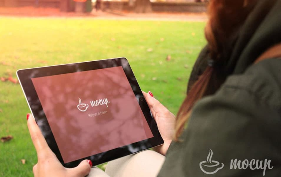 Free iPad Mockup Autumn