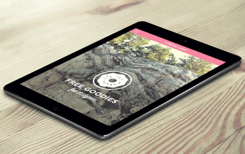 Free iPad Page Scroll Down Animation Mockup