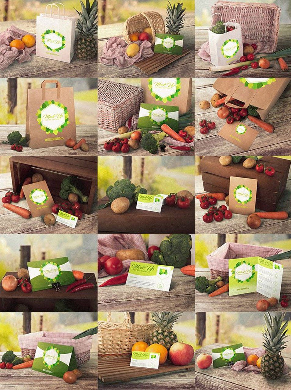 Fruit and Vegetable Mockups