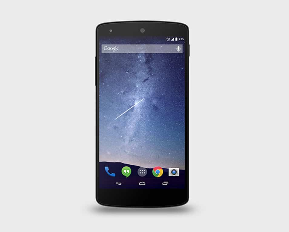 Google Nexus 5 PSD Mock-Up