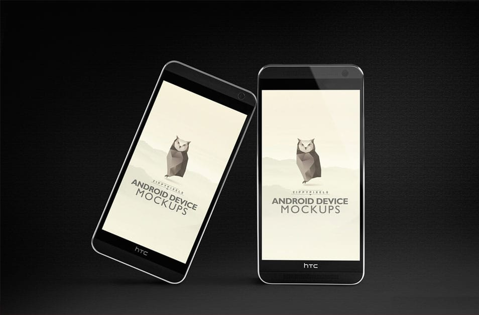 HTC One M8 Android PSD Mockup