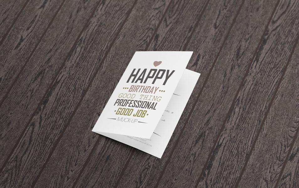 Invitation Greeting Card Mockup Css Author