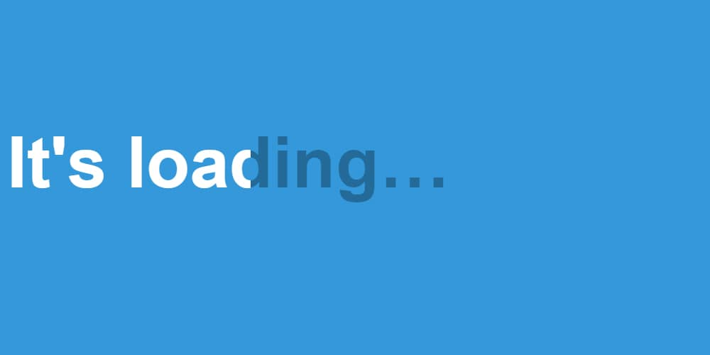 Loading Text Animation