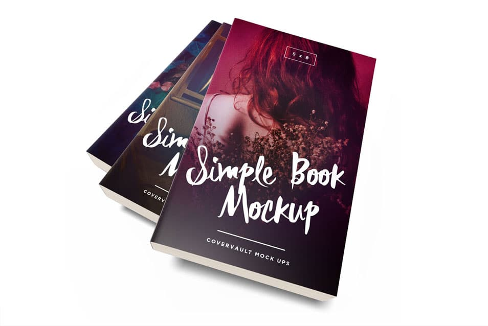 Messy 5 x 8 Paperback Book Stack Template