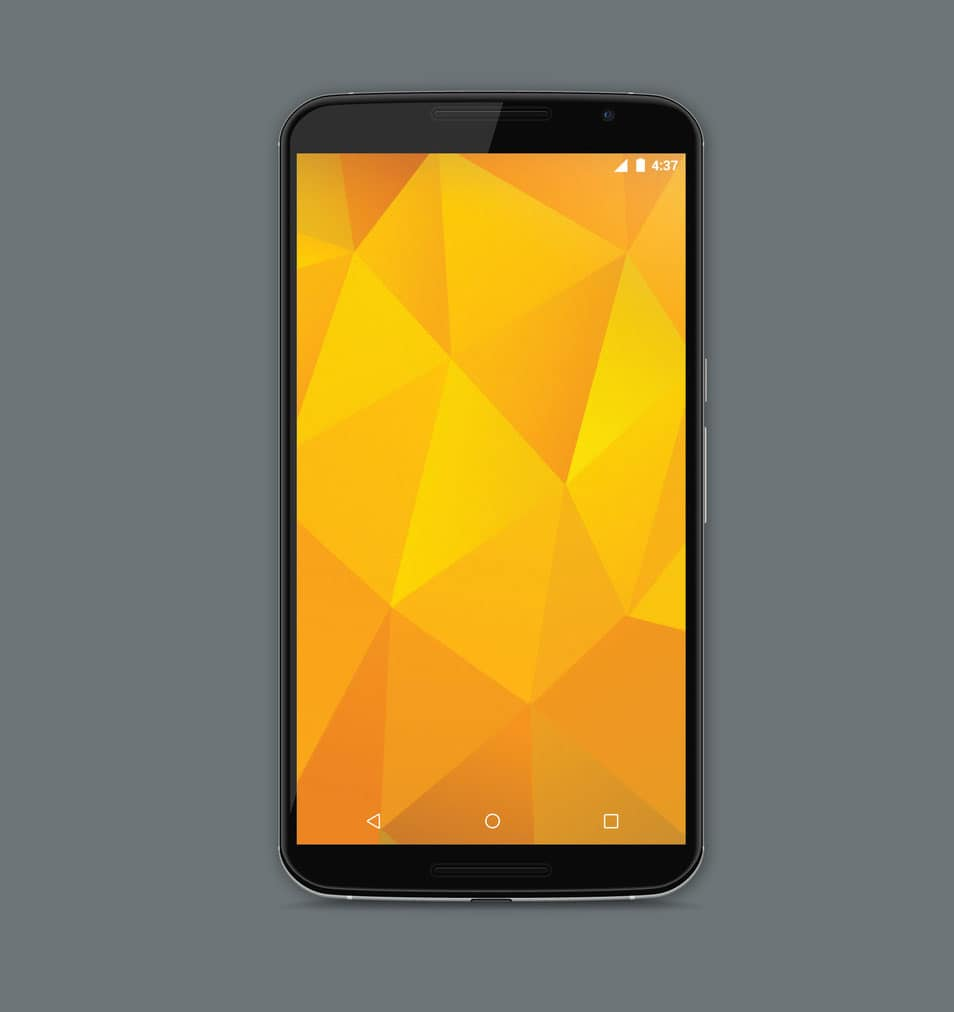 Motorola Nexus 6 Model Vector Mockup